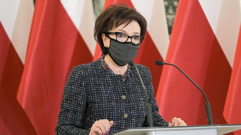 Elżbieta Witek po słowach Grzegorza Brauna
