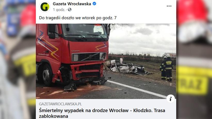tragiczny wypadek w Niemczy
