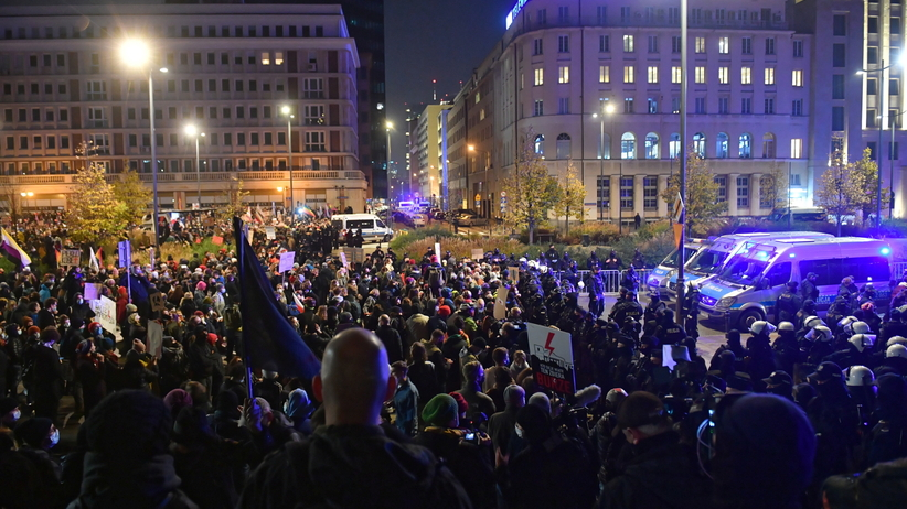 Protest pod TVP