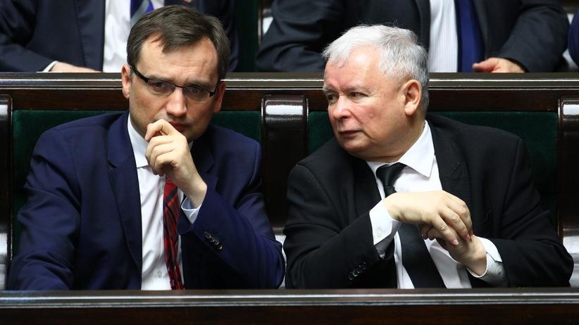 Zbigniew Ziobro i Jarosław Kaczyński/Stanisław Kowalczuk/East News