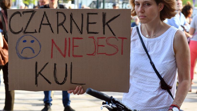 Protest nauczycieli przeciw Przemysławowi Czarnkowi, 17 czerwca Kraków