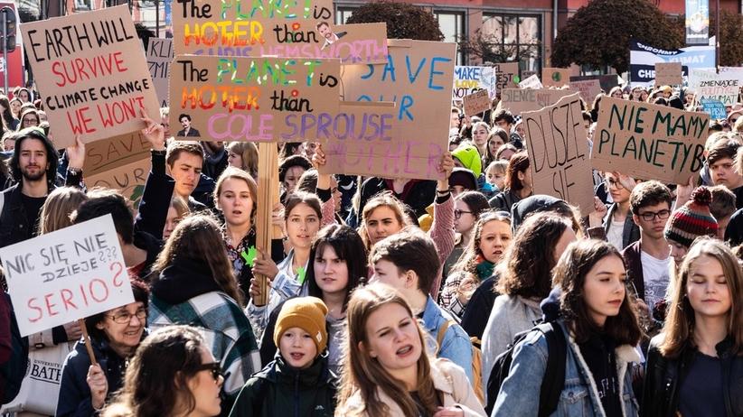 Protest Tysięcy Miast. Młodzieżowy Strajk Klimatyczny w Polsce [ZDJĘCIA]