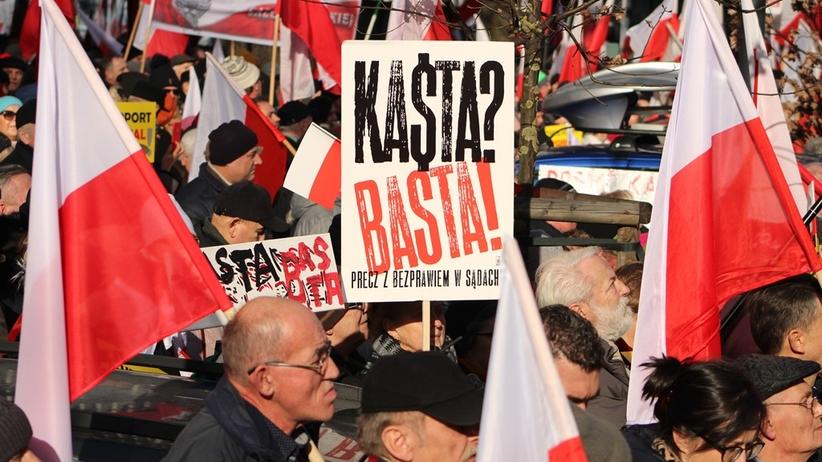 protest w obronie reformy PiS