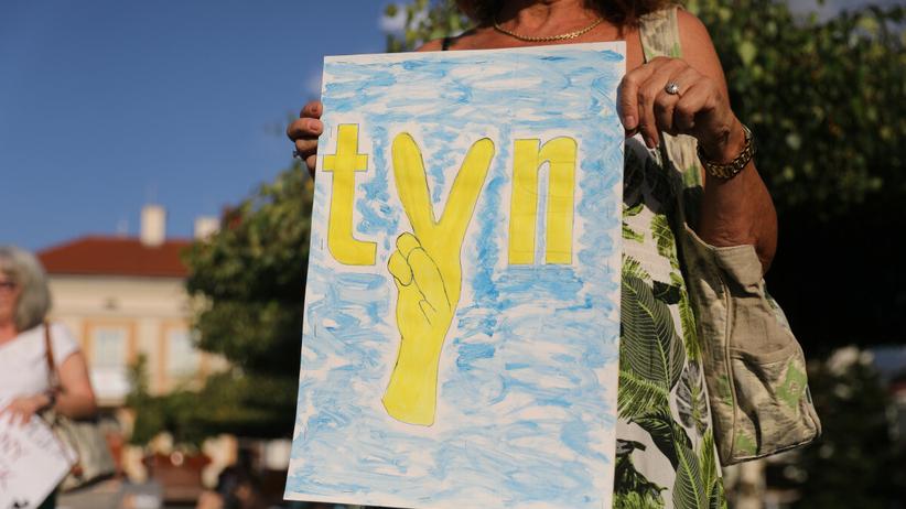 Protest przeciwko lex TVN