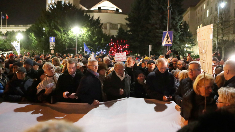 Sejm protest ws. sędziów