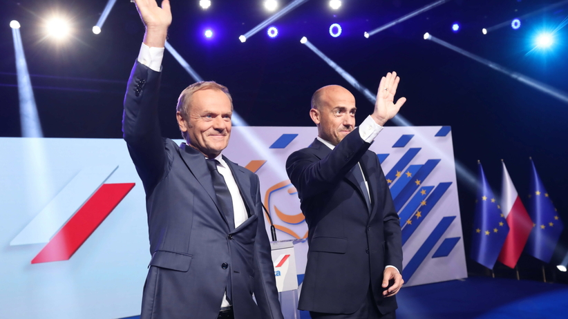 Donald Tusk i Borys Budka