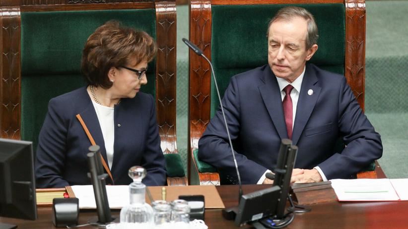 Elżbieta Witek i Tomasz Grodzki
