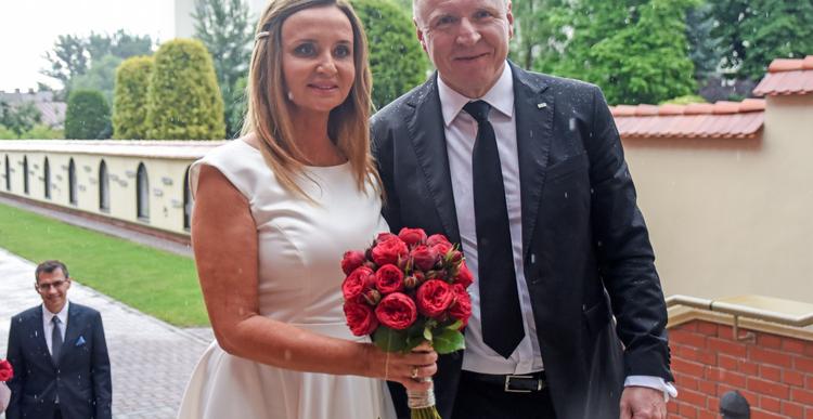 Ślub kościelny Jacka Kurskiego w Łagiewnikach