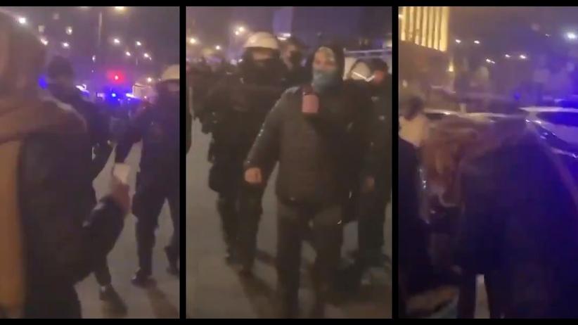 Policja, użycie gazu wobec posłanki Lewicy