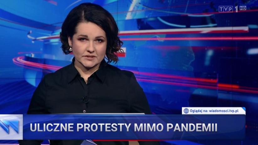 Wiadomości TVP o protestach