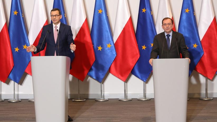 Mateusz Morawiecki i Mariusz Kamiński