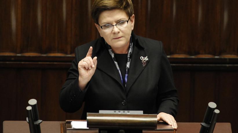 Beata Szydło expose