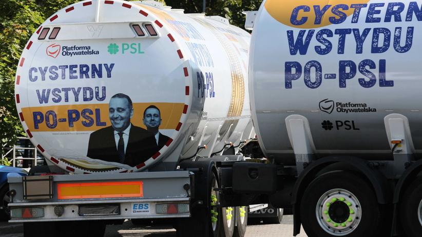 PiS wypuszcza w Polskę cysterny wstydu PO-PSL