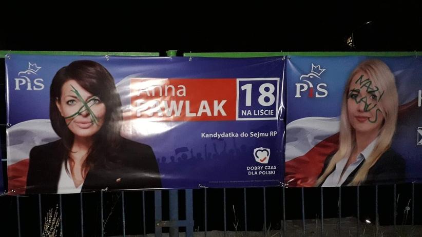 Plakaty PiS w Szczecinie