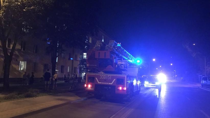 Tragedia w bloku na Pradze-Południe. Starszy człowiek zginął w pożarze