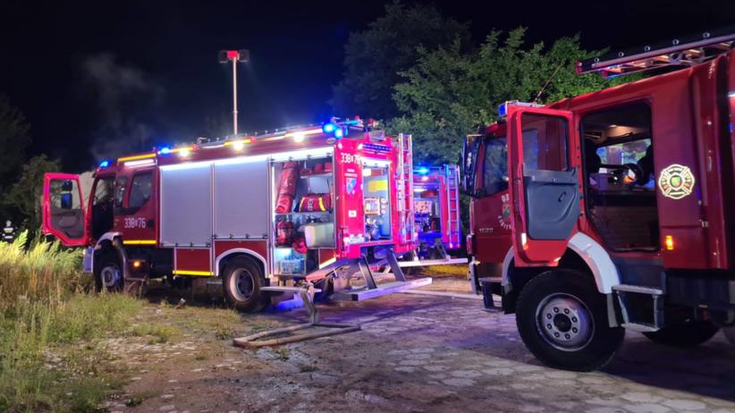 Pożar stodoły w Cieszycach