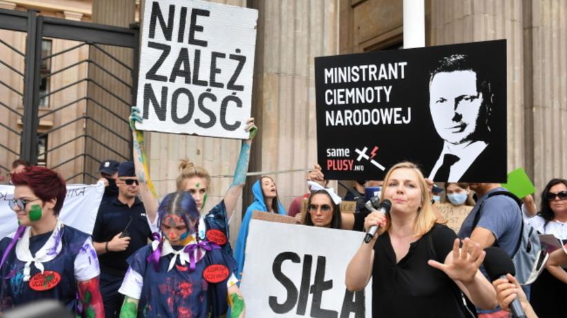 Protest przeciwko Czarnkowi