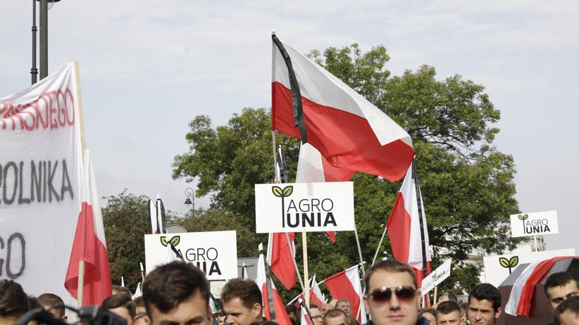 Protest roników w Warszawie