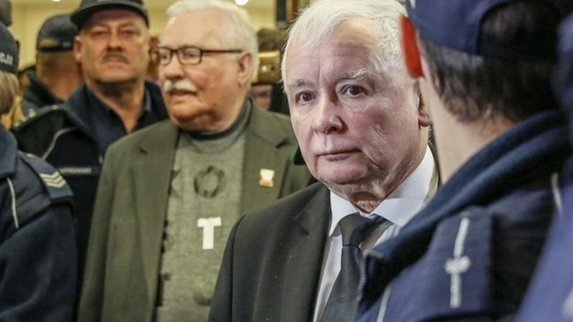 Jarosław Kaczyński i Lech Wałęsa, rozprawa w Sądzie Okręgowym w 2018 roku