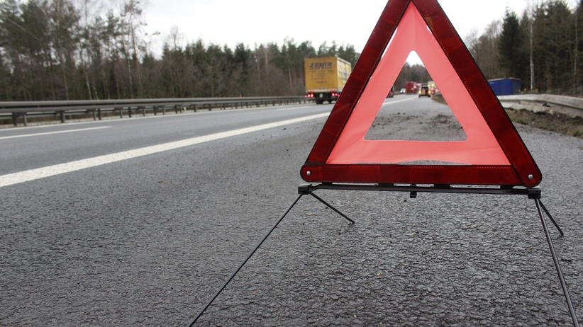 Wypadek na A1, tir zderzył się z samochodem osobowym