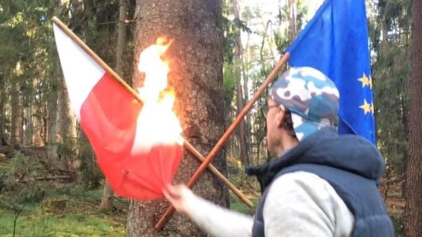 Spalenie flagi Polski