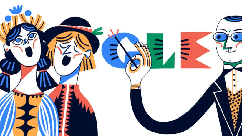 Stanisław Moniuszko. Google Doodle z okazji 200. rocznicy narodzin kompozytora