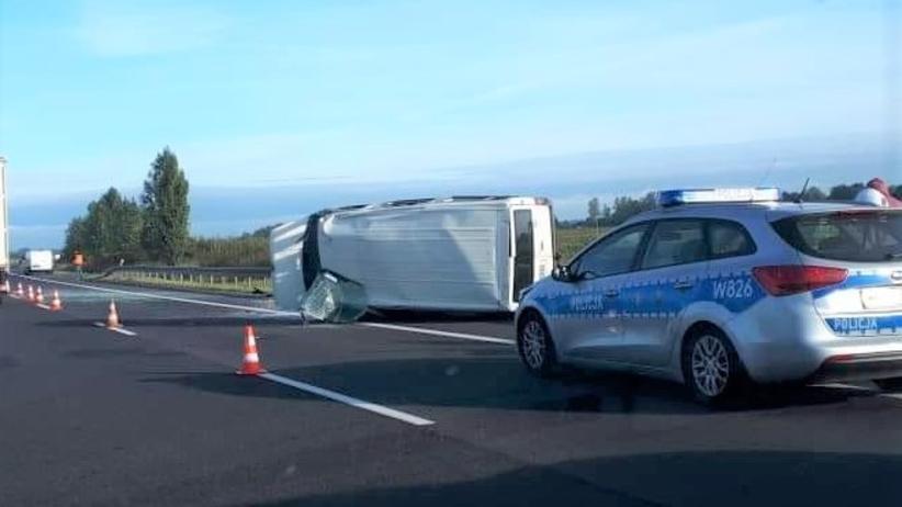Wypadek busa na obwodnicy Stargardu