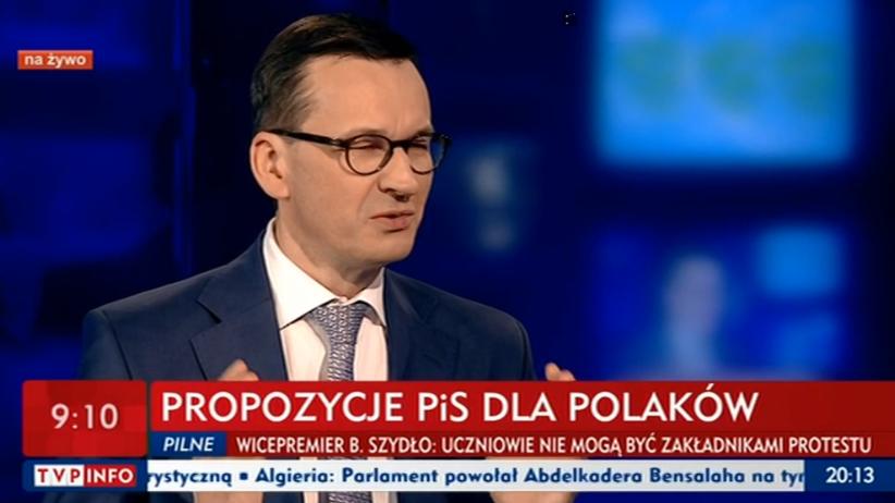 Morawiecki w TVP o strajku: bardzo dużo zaoferowaliśmy. Po świętach ''okrągły stół''