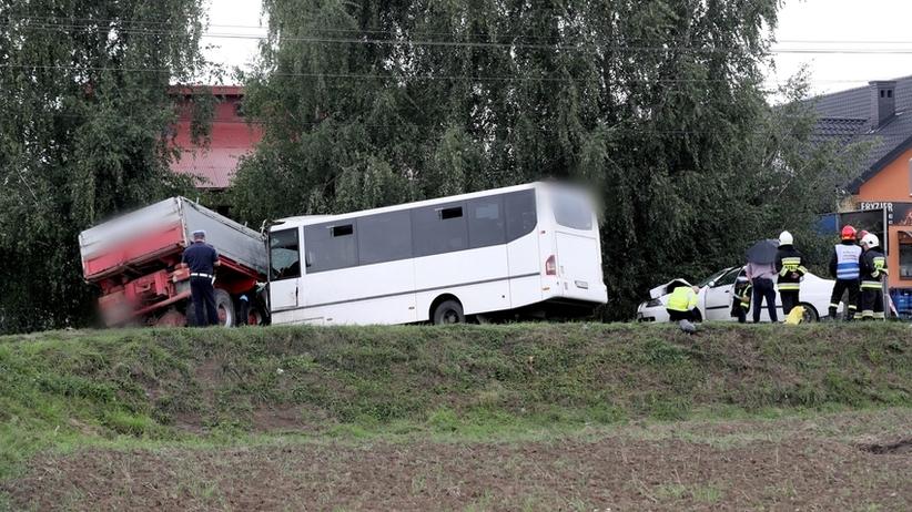 Wypadek autobusu w Małopolsce. Zmarła druga osoba