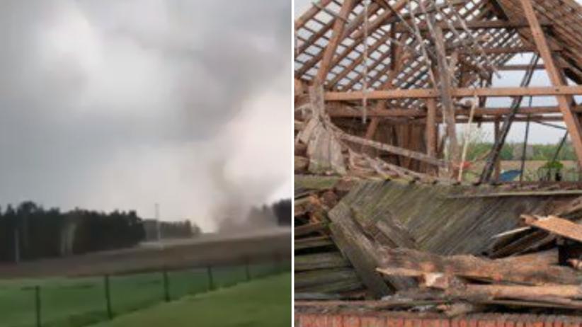Trąba powietrzna w Polsce. Wiatr wyrywał drzewa i uszkadzał dachy