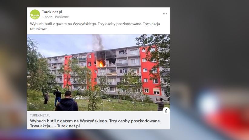 wybuch butli z gazem w Turku