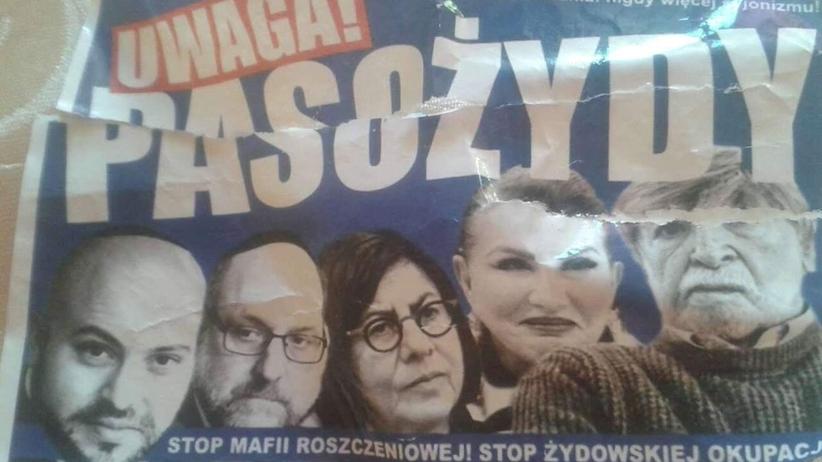Antysemickie plakaty w Warszawie