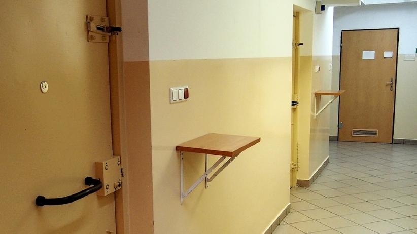 Pomieszczenie dla osób zatrzymanych KPP w Otwocku