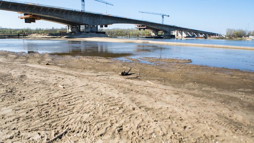 niski poziom wody w Wiśle