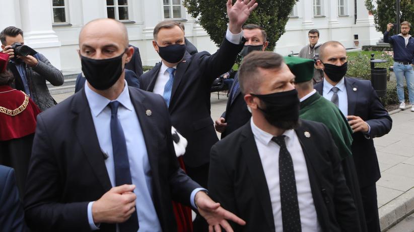 Andrzej Duda na UW
