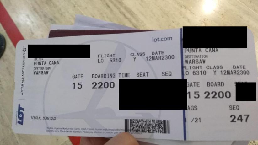 bilet na lot z Dominikany do Warszawy