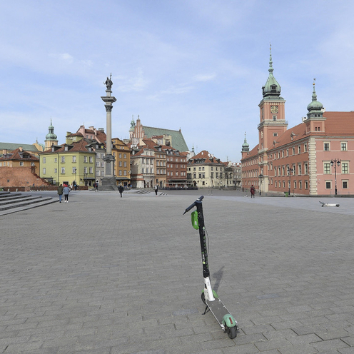 opustoszała Warszawa