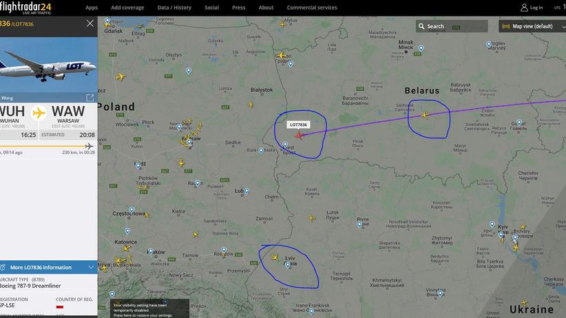 lot Warszawy do Wuhan