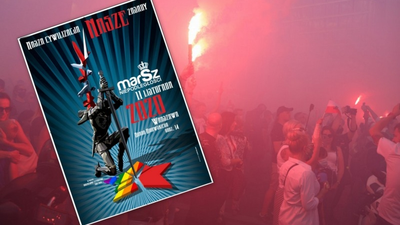 Marsz Niepodległości - plakat