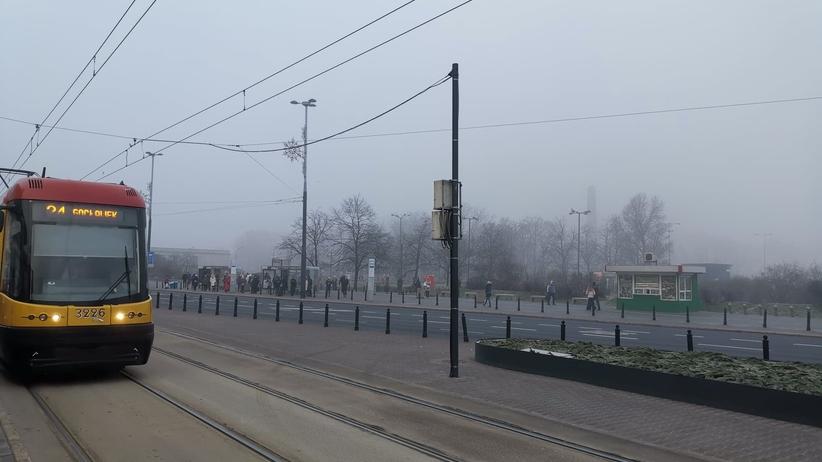 mgła w Warszawie