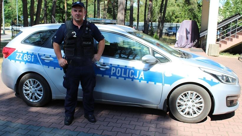 Maciej Kąkol, policjant z Otwocka