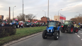 Protest rolników w Warszawie. Rozrzucili na skrzyżowaniu kapustę