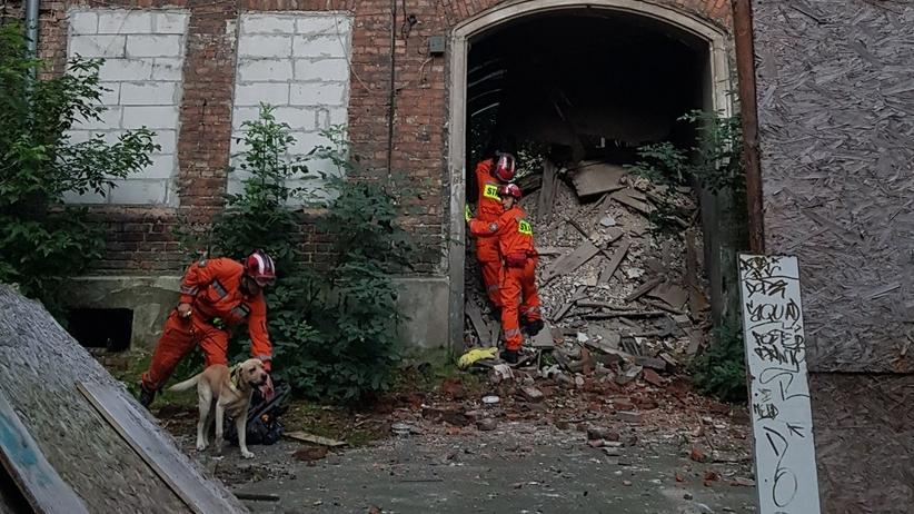 Zawalenie części kamienicy w Warszawie