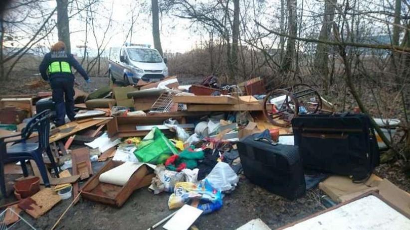 Odpady w Lasku Bródnowskim