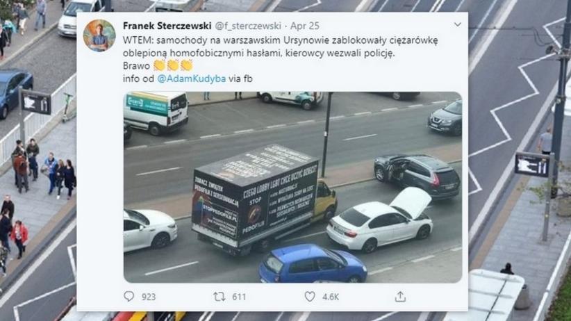 Zatrzymanie furgonetki na Ursynowie