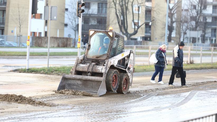 Awaria ciepłownicza w Warszawie - usuwanie skutków