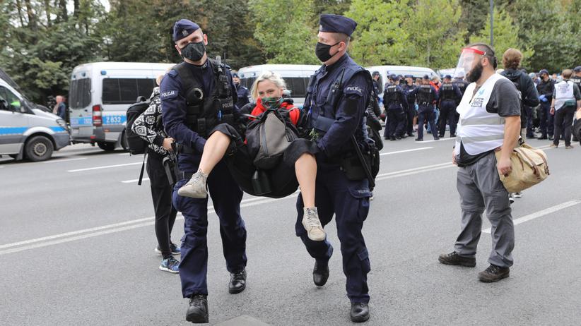 Strajk w Warszawie