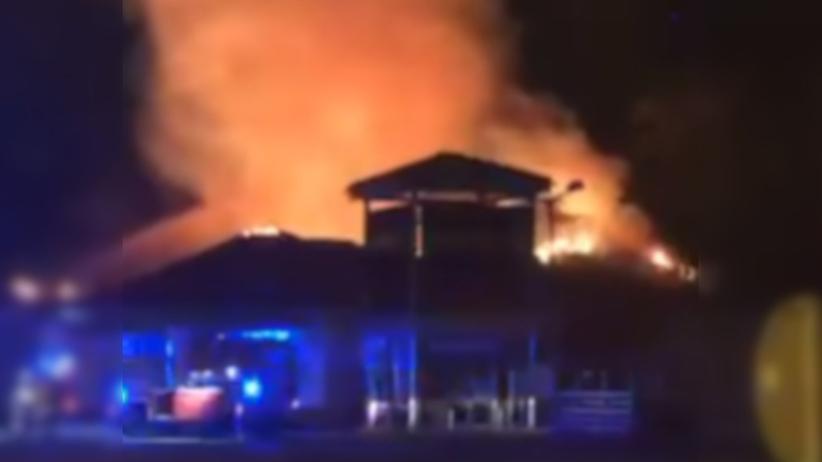 Pożar sklepu Netto w Warszawie