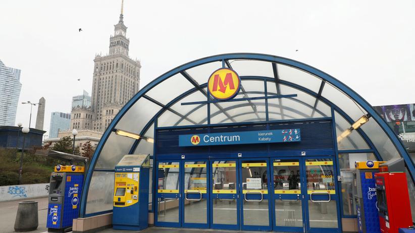 Wypadek metro Centrum