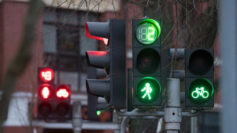 Sygnalizacja świetlna w Warszawie